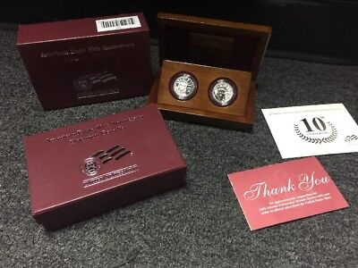 2007-W Proof Platinum American Eagle - 10th Anniversary 2 Coin Set