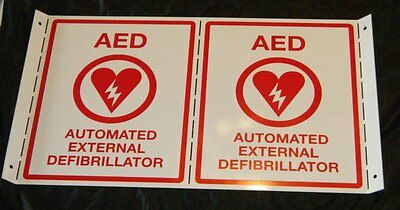 AED Wall Sign ~ NEW Metal Heavy Duty