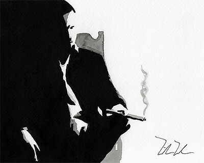 """""""The deal is done"""" ORIGINAL ink by Mike Uhren"""
