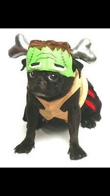 Frankenstein Pet Dog Outfit Costume - Halloween, Scary, Cute