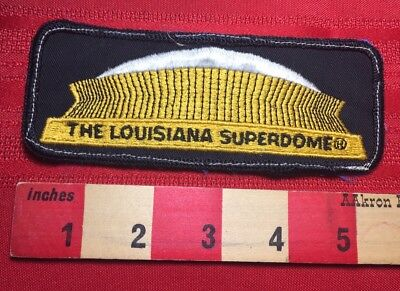 Vintage LOUISIANA SUPERDOME Patch - Sports Dome In New Orleans 77T4