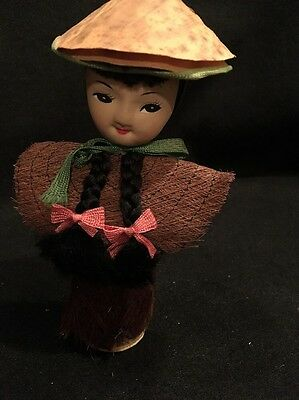 """Vintage Collectible 1950's Republic Of China Doll 7"""" Tall"""