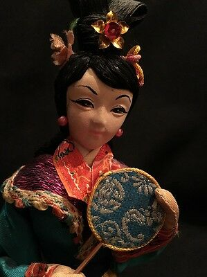 """Vintage Doll With The Republic Of China Award Made In Taiwan 9"""" Tall"""