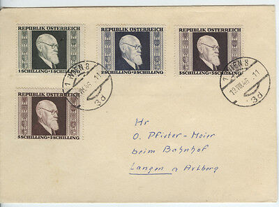 1946 Austria Renner Set Fine Used On Cover Not FDC Dated 19-08-1946 Rare Item