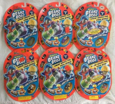 Lot of 6 Mighty Beanz 4 Pack Brand New  Unopened Series 1 Spin Master Vintage