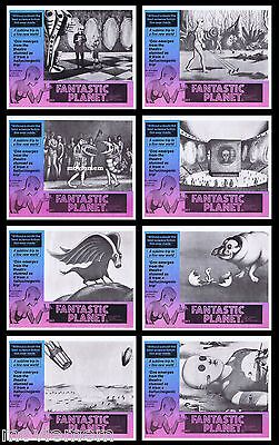 FANTASTIC PLANET Vintage and very rare Australian LOBBY CARD SET Sci Fi