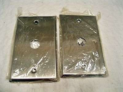 2 - Stainless Steel Push Button Single Switch Wall Plates