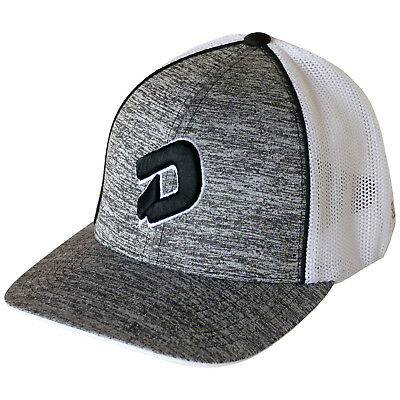 DeMarini D Logo Heather Baseball/Softball Trucker Hat, Heather Grey/Black - L/XL