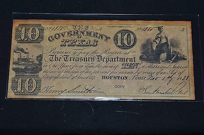 Texas  Ten dollars  novelty  (#O 25)