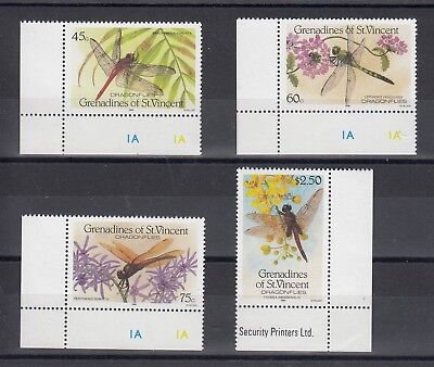 Timbre Stamp 4 Grenadines St Vincent Y&t#479-82 Insecte Neuf**/mnh-Mint 1986~A60