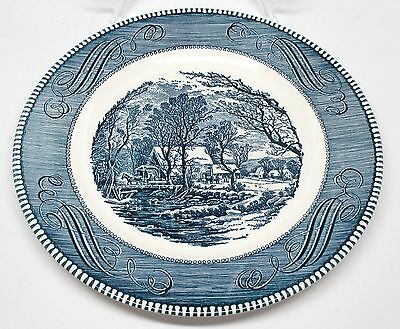 Royal China - Currier & Ives - The Old Grist Mill - Dinner Plate
