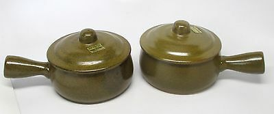 Pair of French Casserole Stoneware Handled Dishes - Westwood of S.F. Japan