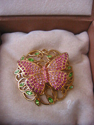 """Swarovski """"beauty"""" Butterfly Brooch/pin 2002** New And Gorgeous"""