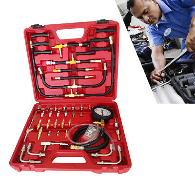 Car Fuel Injection Tester Gauge Injector Pressure Test Auto System Pump Tool Kit