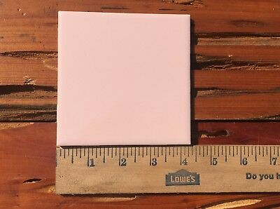 """Vintage 1950s Pink Wall Ceramic Tiles 4.25"""" square Reclaimed Clean Remodel"""