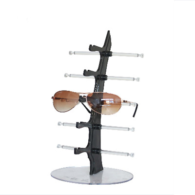 5 Layers Black Eyeglasses Sunglasses Glasses Display Stand Rack Holder Tool