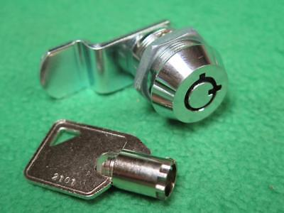 "12 3/4"" Chrome Tubular Keyed Key Cam Lock Cylinder Drawer File Cabinet Vending"