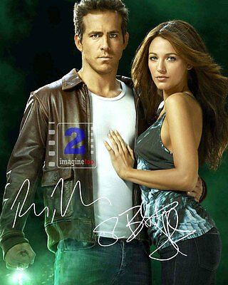 "Ryan Reynolds - Blake Lively 8""x 10"" Signed Color PHOTO REPRINT"
