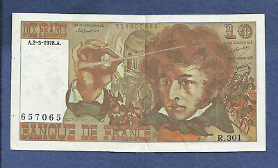 FRANCE 10 FRANCS 2_03_1978 Banknote 657065 HECTOR BERLIOZ