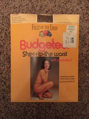 Vintage fruit of the loom budgeteer Shadow pantyhose size average/Tall