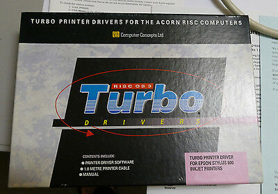 RISC OS (Acorn) Turbo Drivers for Epson Stylus Color and Epson Stylus 800 Inkjet