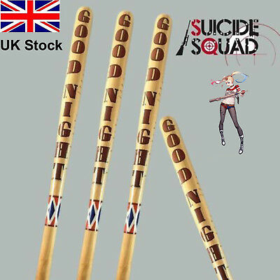 """Size 34"""" Harley Quinn Suicide Squad Wooden Baseball bat Halloween Cosplay IN UK"""