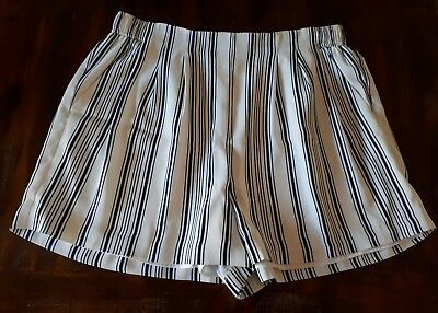 Forever New Striped Shorts Size 16