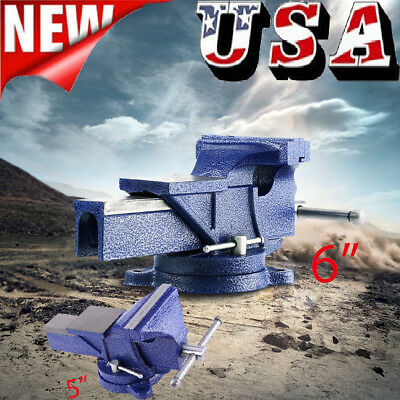 "5""/6"" Vise Work Table Bench Clamp Swivel Rotated Vice Hobby Craft Repair Tool US"