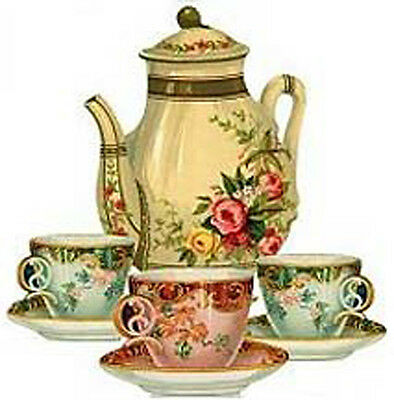 CHarMinG VicToRiaN TeaSeTs ShaBby WaTerSLiDe DeCALs