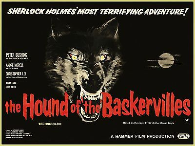 Hound Of The Baskervilles  Sherlock Laminated A4 Mini Hammer Movie Poster