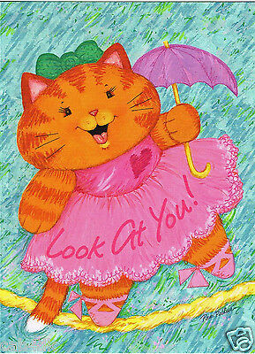 Vintage Greeting Card Lot Kids Kid Birthday Cards Current 6 Kitty Cat Cards