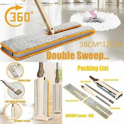 2017 New Arrivals Self-Wringing Double Sided Flat Mop Telescopic Comfortable FR
