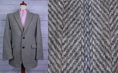 Vintage 1970s 2 Button Light Weave Harris Tweed Jacket -38- DT53