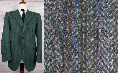 Vintage 1960s Green Harris Tweed Jacket -42- CU57