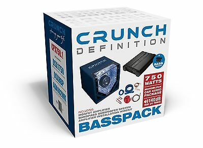 Subwoofer Final Stage Package Crunch cpx750.1 Complete sounpaket bassanlage Car