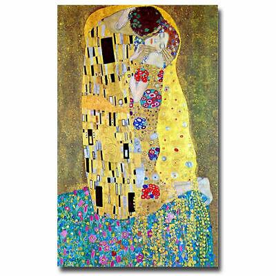 Gustav Klimt-The Kiss-Hand-painted Oil Painting Abstract Canvas Art Unframed