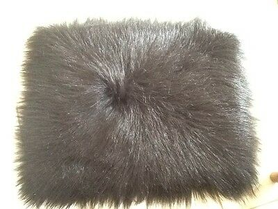 BLACK FAUX FUR - 4 Inch Pile - Super Long, Thick And Soft