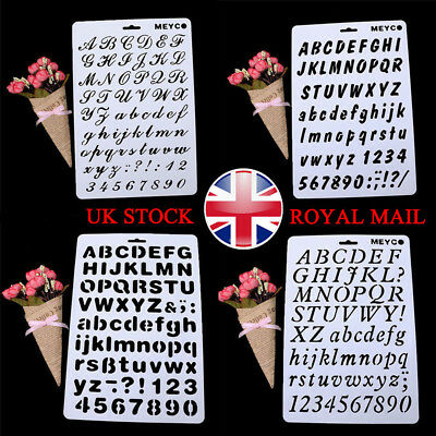 Letter Number Layering Stencil Painting Scrapbooking Cards Craft Xmas Gifts UK