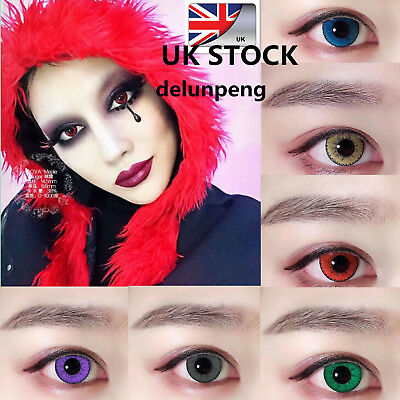 Colors Big Eye Coloured Contact Lenses Crazy Halloween Coloured Cosmetic Makeup