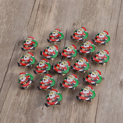 25x Christmas Snowman Flashing LED Light Up Badge Brooch Pins Party Favors