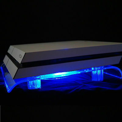 USB Design Cooling Fan Blue LED 18cm Stand for PS4 PlayStation 4 Pro Accessory
