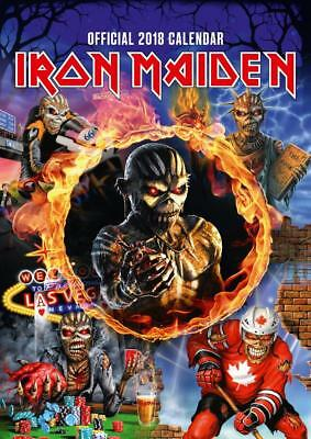 Iron Maiden Calendar 2018 Original Official Large A3 Wall Size New + Sealed