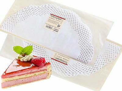 Cake Top White in Basket Decor Round 36 cm, 6 Piece/Pack Food Paper