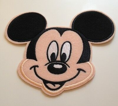 Extra Large Mickey Mouse embroidered Iron on / Sew Motifs / Patch