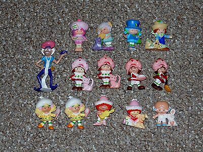 Vintage Kenner Strawberry Shortcake Lot of 14 PVC Figures Some Rare