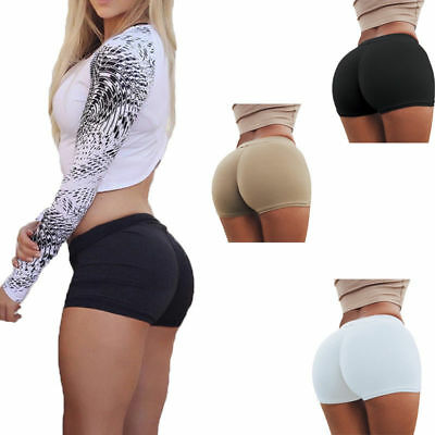 Women Compression Fitness Yoga Shorts Trousers Athletic Gym Sports Running Pants