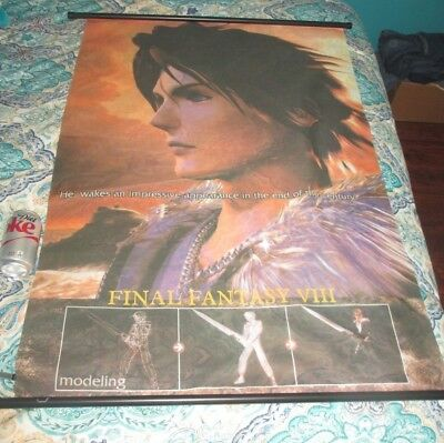 """FINAL FANTASY VIII  Wall Hanging Scroll Poster  31 3/4"""" x 42 1/2""""        a"""