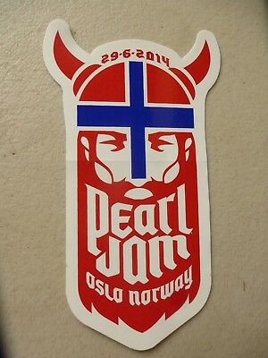 Pearl Jam - Oslo, Norway sticker from 29-6-2014 gig