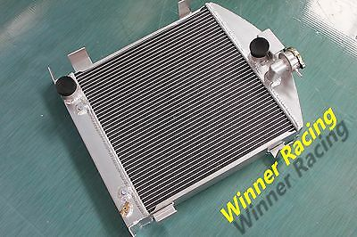 "21.5"" high aluminum radiator Ford hot rod chopped w/Ford 302 V8 engine 1931-1932"