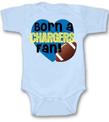 Born a San Diego Chargers Football Fan Baby Bodysuit Cute New Gift Size & Color